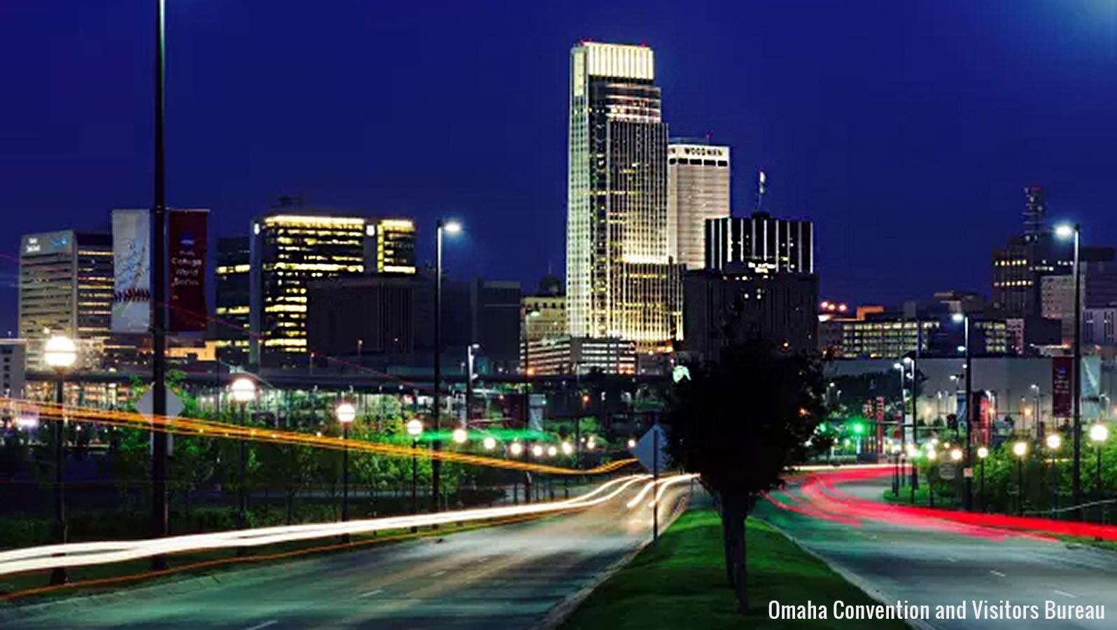 skyline shot of Omaha