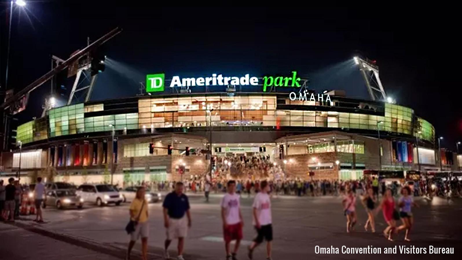 exterior of the Ameritrade baseball Park in Omaha