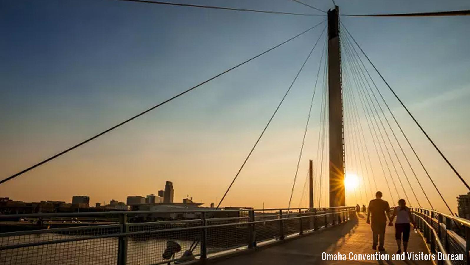 Omaha pedestrian bridge