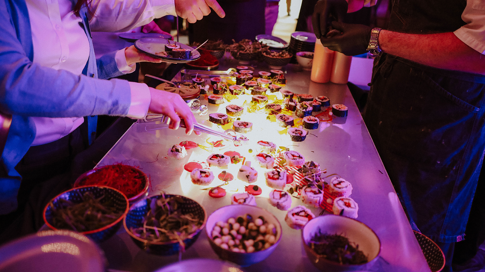 Food Display At Omaha Event