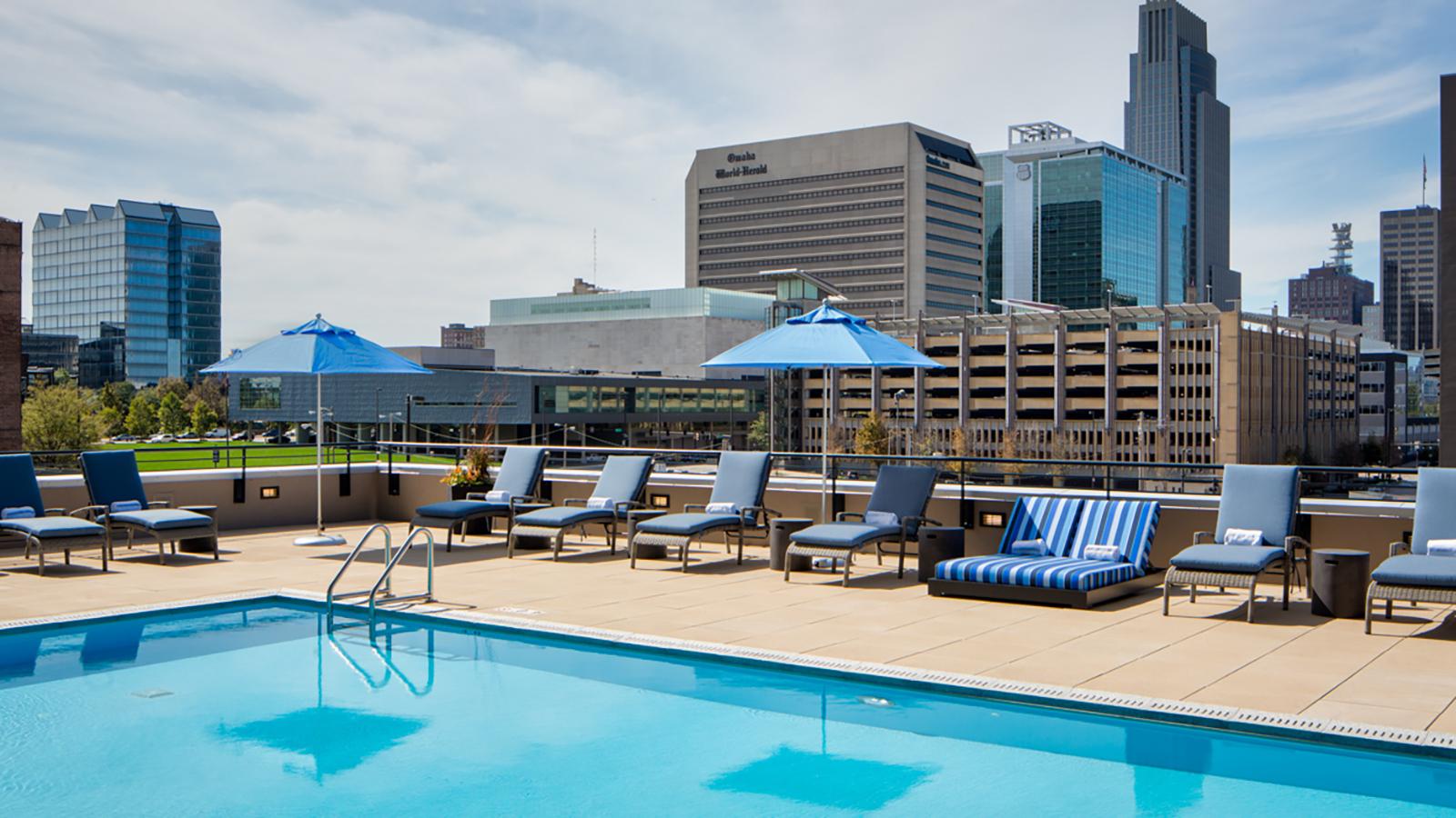 Rooftop Pool Downtown Omaha