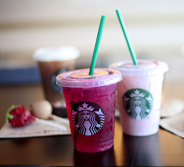 Very Berry Hibiscus Refresher and Starbucks Pink Drink