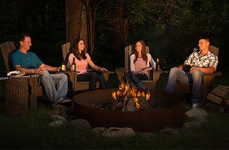 bonfire, team building, team activity, heidel house resort & spa, green lake wi