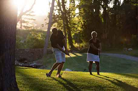 golfing, green lake wi, heidel house resort & spa