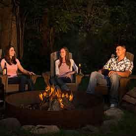 Bonfire, Heidel House Resort & Spa, Green Lake, WI