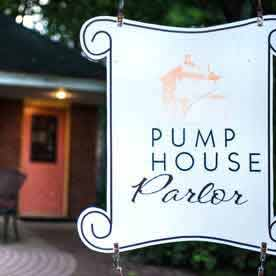 pumphouse parlor, outdoor dining, ice cream, green lake wi