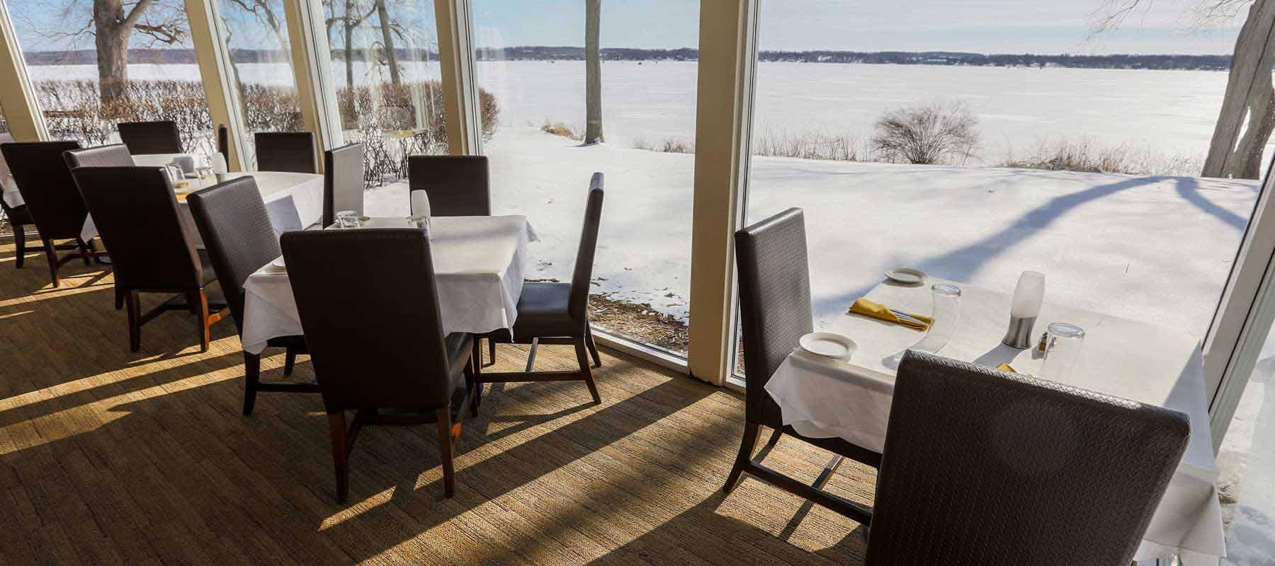 Grey Rock - Dining Room in Winter