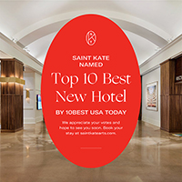 Saint Kate named Top 10 Best Hotels by USA TODAY!