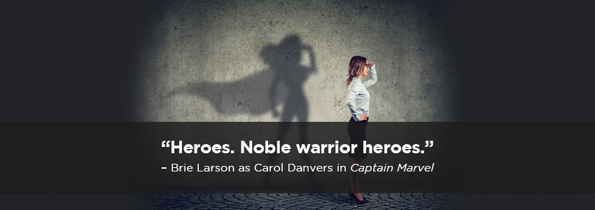 Heroes. Noble warrior heroes.