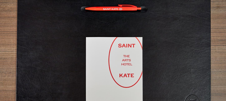 Saint Kate Meeting Materials Set Up