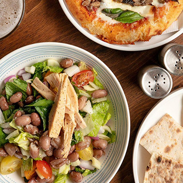 Sample Food Items from Proof Pizza at Saint Kate