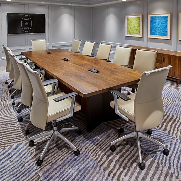 Expressionist Boardroom Set Up