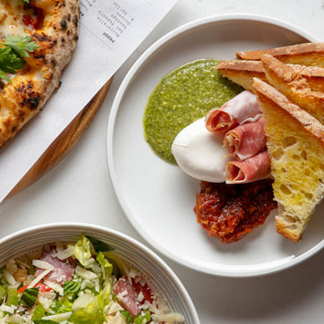 Lunch options at Proof Pizza in Saint Kate