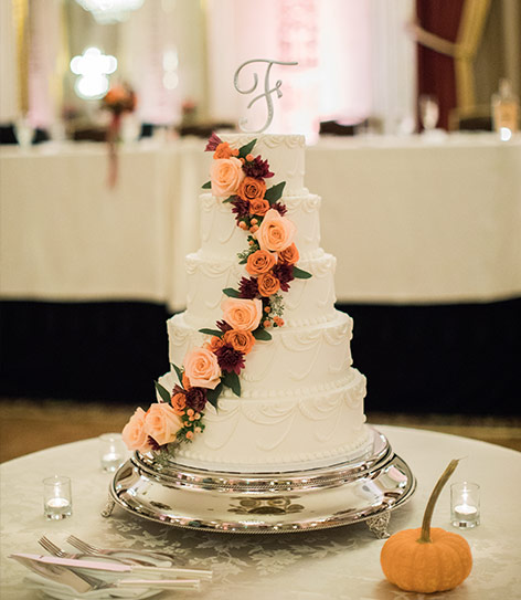Hilton Milwaukee - Cake at Wedding Reception