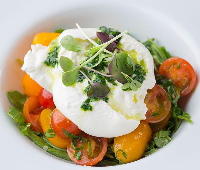 Lighter Fare Salad in White Bowl