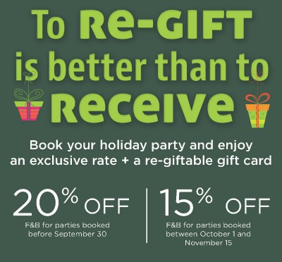 Holiday Banquet Offer
