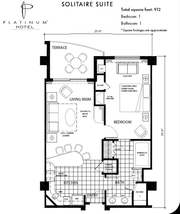 Hotel room suite plan the image kid has it for House plans with income suite