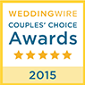 Wedding Wire - Couples' Choice Awards - 5 star - 2015