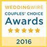 Wedding Wire - Couples' Choice Awards - 5 star - 2016