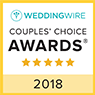 Wedding Wire - Couples' Choice Awards - 5 star - 2018