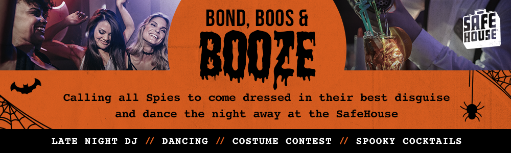 safehouse halloween party bond boos booze