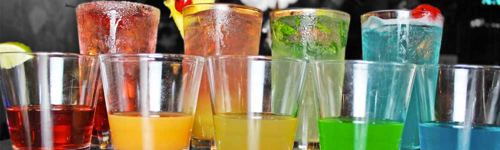 Ice Cold Drinks Lined Up