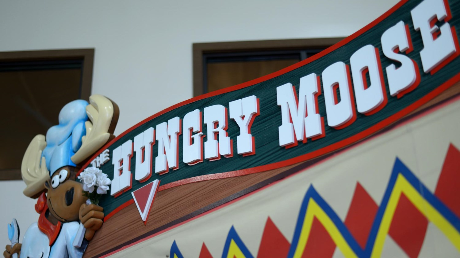 The Hungry Moose welcome sign