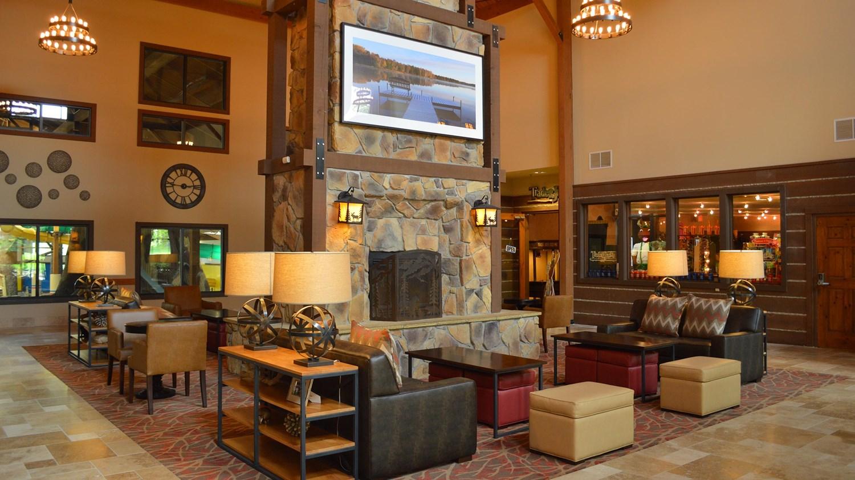 Front lobby of TImber Ridge Resort & Waterpark