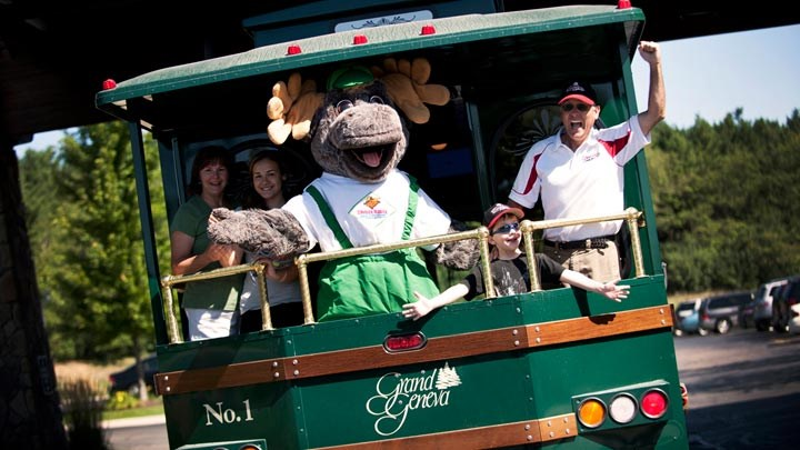 Bruce the Moose on the Timber Ridge Trolley