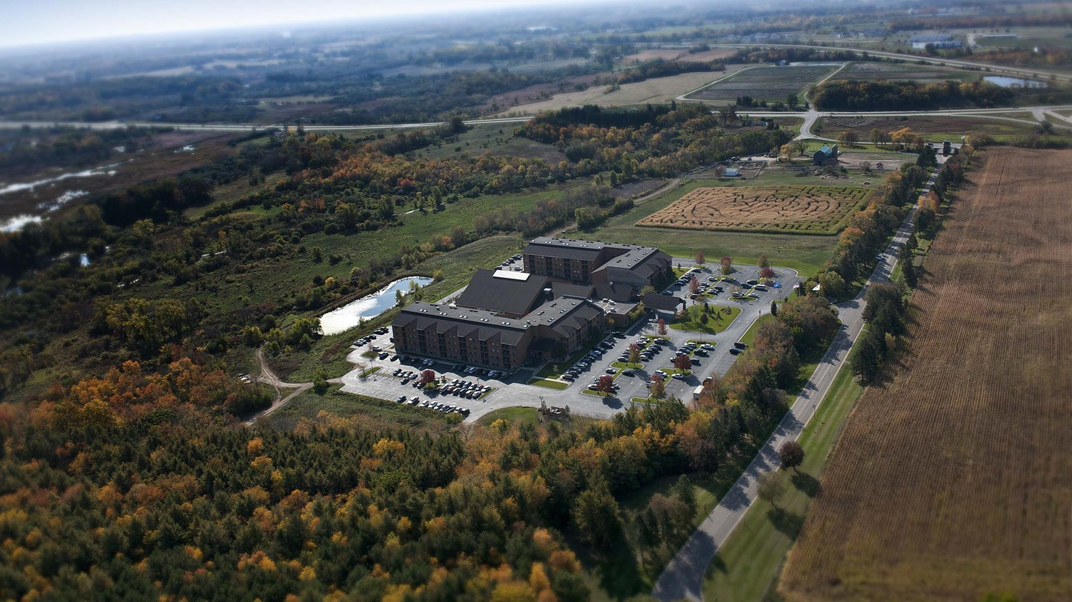 Helicopter view of Timber Ridge Resort & Waterpark